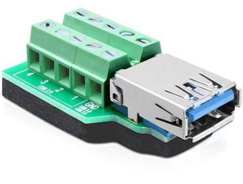Delock Adapter USB 3.0-A female > Terminal Block 10 pin connector antislip pad - Optiwire.ie
