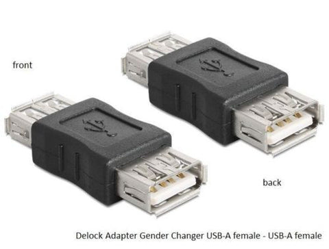 Delock Adapter Gender Changer / Coupler USB 2.0 A female - USB A female - Optiwire.ie