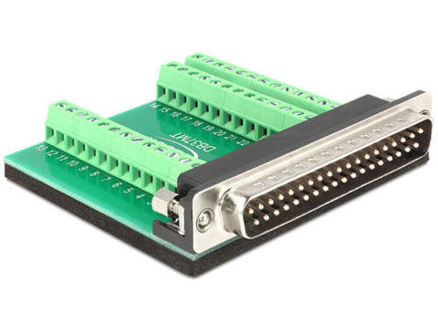 Terminal block 39 pin adapter > Sub-D 37 pin Male connector Pitch 3.1 mm DC-37 - Optiwire