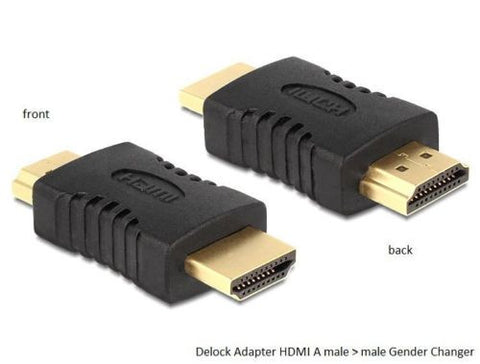 Delock Adapter HDMI A male > male rotated 180° Gender Changer with Ethernet HEC - Optiwire.ie