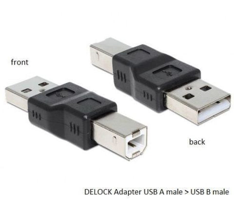Delock USB 2.0 A Male > USB A Male Adapter Converter for printer /scanner/switch - Optiwire