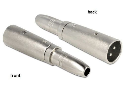 Delock Adapter XLR male 3 pin > 6.35 mm Stereo jack female mono - Optiwire.ie
