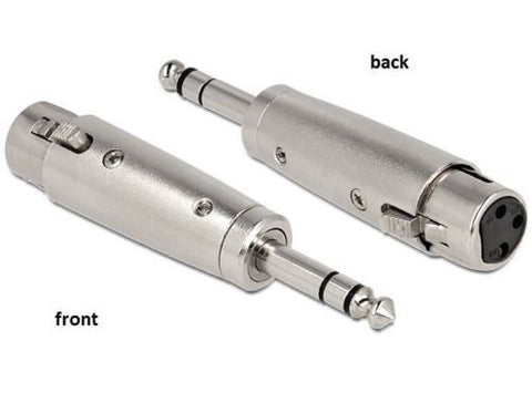 "Delock Adapter XLR female > 6.35 mm Stereo plug stereo connect XLR device >1/4"" - Optiwire.ie"