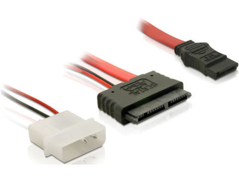 "Delock Cable Micro SATA female + 2Pin Power > SATA connect 1.8"" SSD / HDD > PC - Optiwire.ie"