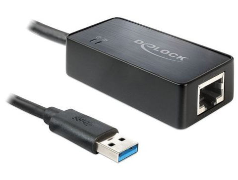 Delock Adapter USB 3.0 > Gigabit LAN 10/100/1000Mb/s connect LAN / internet >USB - Optiwire.ie