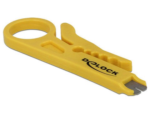 Delock Insertion Tool & Cable Stripper for LSA and 110 IDC connectors 1 to 8 mm - Optiwire - 1