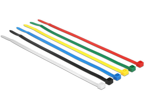 Delock Cable ties coloured L 200 x W 3.6 mm 100 pieces nylon non-reusable - Optiwire.ie