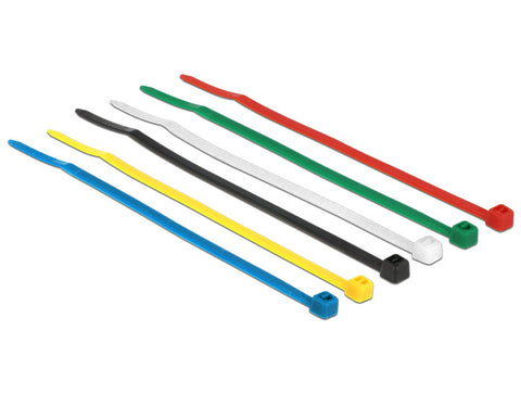 Delock Cable ties coloured L 100 x W 2.5 mm 100 pieces Nylon non-reusable - Optiwire.ie
