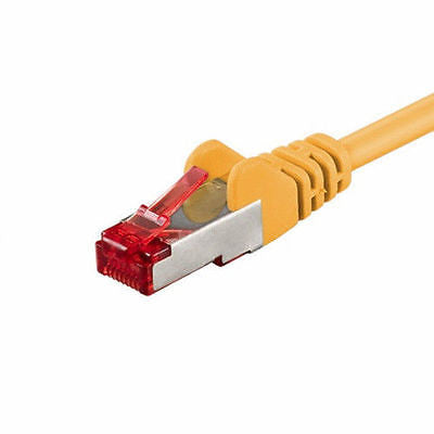 Cat6 LAN Ethernet Network RJ45 SSTP PIMF Straight Cable EIA/TIA 568 0.25m yellow - Optiwire.ie