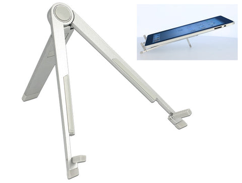 Aluminium Delock Stand for 7″-10″ Tablet / iPad / eBook-Reader 45° & 15° angles - Optiwire.ie
