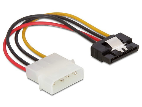 Delock Cable Power SATA HDD 15 pin > Molex 4 pin male with metal clip – straight - Optiwire.ie