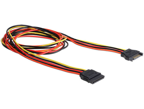 Delock Extension Cable Power SATA 15 Pin male > SATA 15 Pin female 100 cm 18 AWG - Optiwire.ie