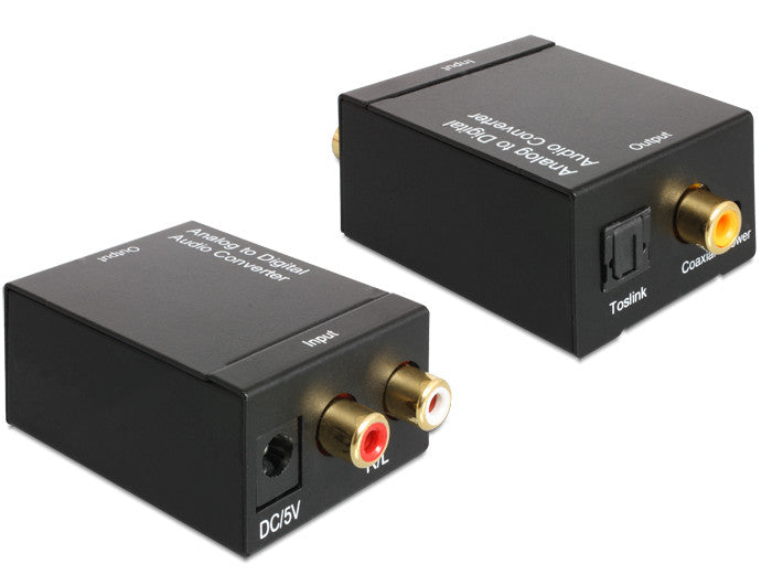 Delock Audio Converter Analogue > Digital / Optical / SPDIF / Toslink / Coaxial - Optiwire.ie
