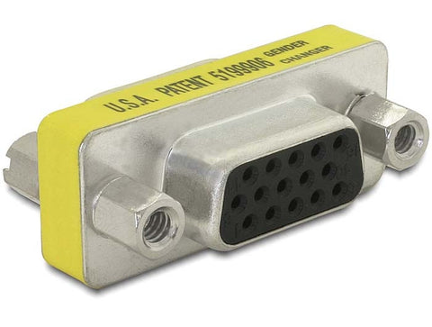 Delock Adapter VGA female - female Gender Changer / Coupler with screwnuts 15pin - Optiwire.ie