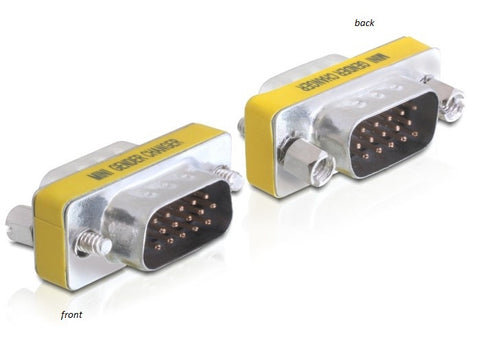 Delock Adapter / Gender Changer VGA / SVGA male - male with screws - Optiwire.ie