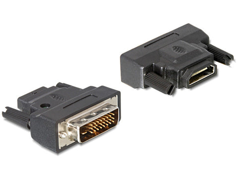 Delock Adapter DVI 25 pin male with screws > HDMI female with LED gold-plated - Optiwire.ie
