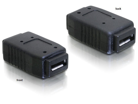 Delock Adapter USB micro-A+B female > micro-A+B female Gender Changer / Coupler - Optiwire.ie