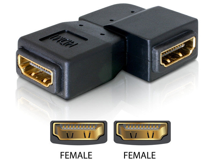 Delock Adapter HDMI female > HDMI female 90° leftwards Gender changer / Coupler - Optiwire
