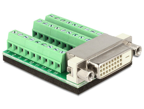 Delock Adapter DVI 24 +1pin female > Terminal Block 27 pin connector Pitch 3.81 - Optiwire
