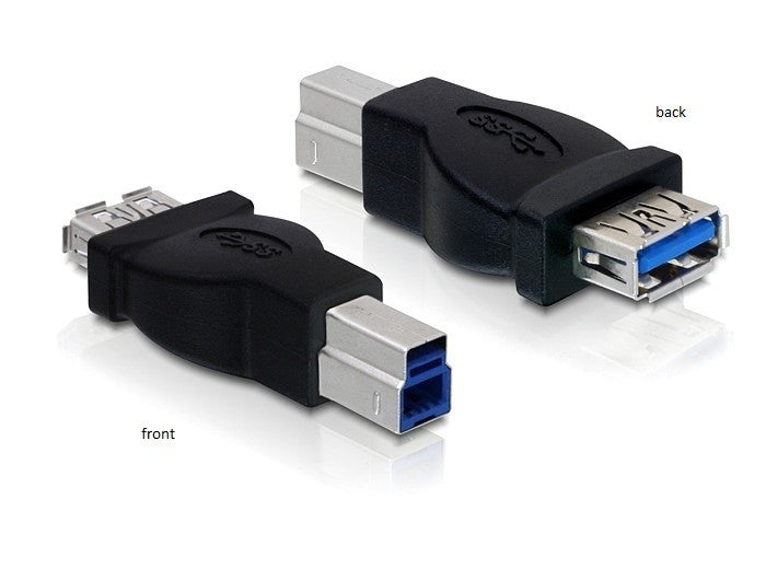 Delock Adapter USB 3.0-B male > USB 3.0-A female up to 5 Gb/s nickel-plated - Optiwire.ie