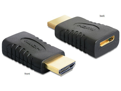 Delock Adapter High Speed HDMI - A male 19 pin > C female / reuse mini C cable - Optiwire.ie