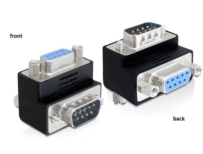 Delock Adapter Sub-D 9 pin male > female 270°angled for difficult to access port - Optiwire.ie