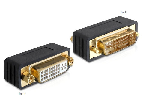 DVI 24+5 pin Male > female  Adapter / Coupler with screws & nuts gold-plated - Optiwire