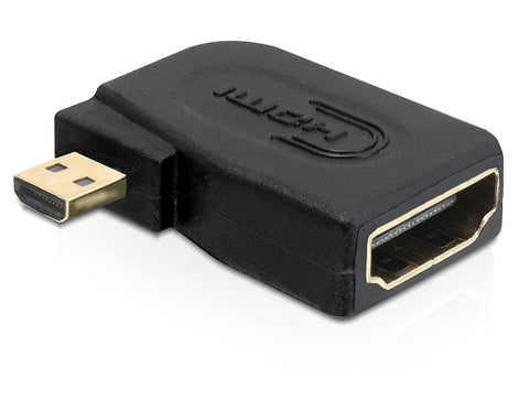 HDMI High Speed D micro Male to HDMI A Female angled connector Adapter converter - Optiwire