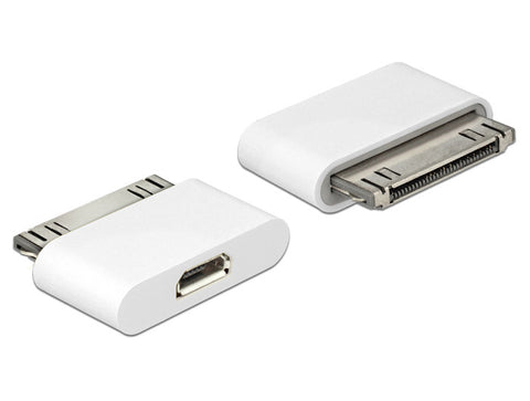 Delock Adapter iPhone / iPad 30pin male > USB micro-B female for data & charging - Optiwire.ie