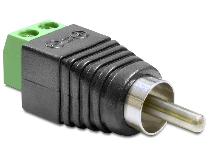 Delock Adapter RCA male > Terminal Block 2 pin Pitch 5.0 mm connect single wires - Optiwire.ie