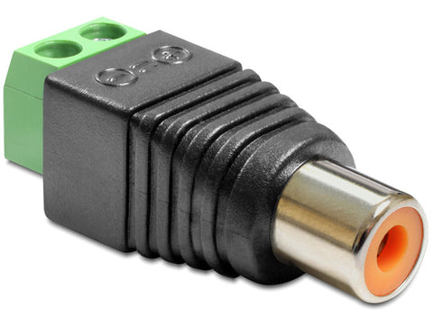 Delock Adapter RCA female > Terminal Block 2 pin Pitch 5.0 mm - Optiwire.ie