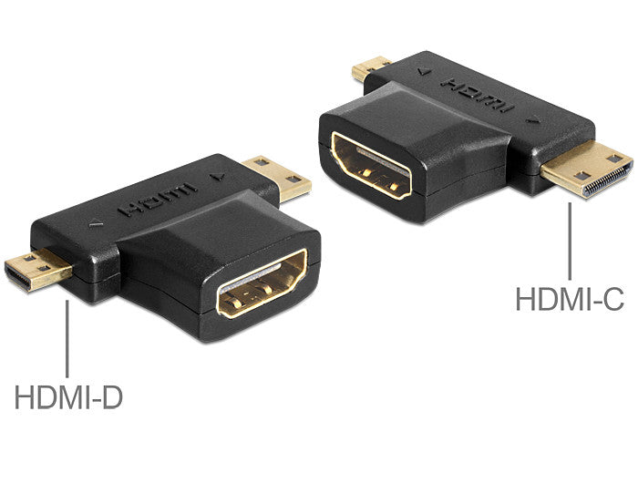 Delock Adapter HDMI-A female > HDMI-C + HDMI-D male connect tablet / phone > TV - Optiwire.ie