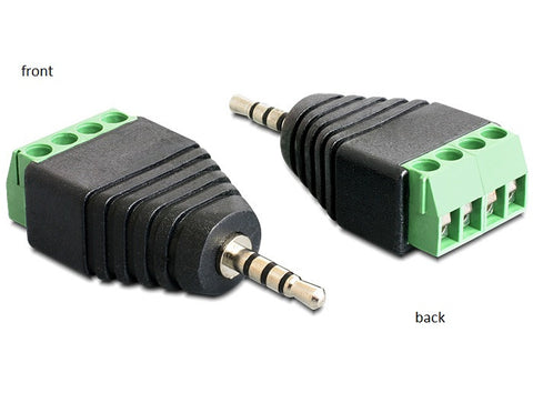 Delock Adapter Stereo plug 2.5 mm > Terminal Block 4 pin Pitch 3.5 mm - Optiwire.ie