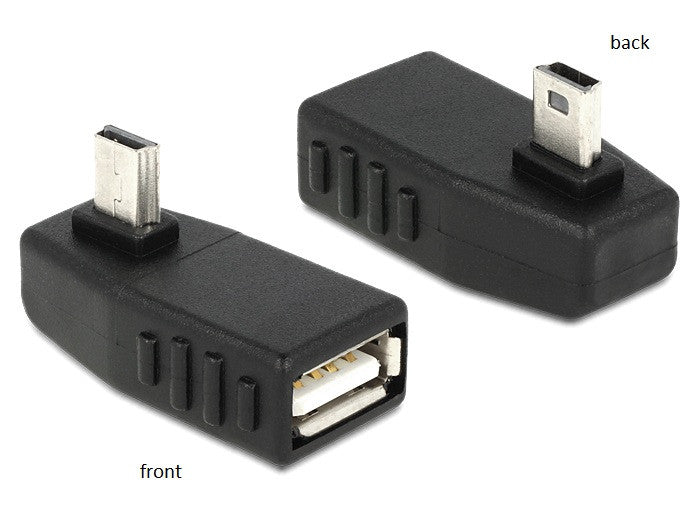 Delock Adapter USB mini male > USB 2.0-A female OTG 270° angled for Android - Optiwire.ie