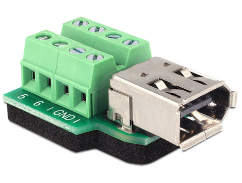 Delock Adapter FireWire A 6pin female > Terminal block 8pin connect single wires - Optiwire.ie