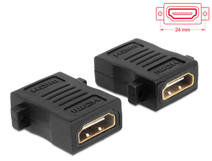 Delock Adapter HDMI A female > female with screw holes GenderChanger Coupler HEC - Optiwire.ie