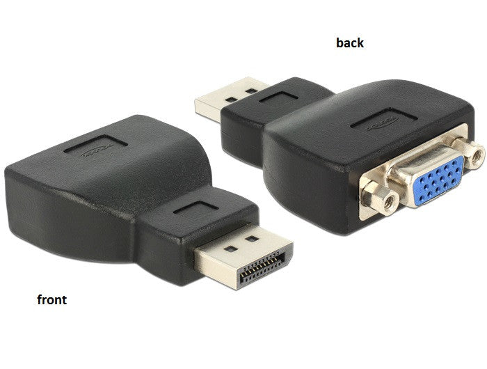 Delock Adapter Displayport 1.1 male > VGA female black 1920x1200@60Hz DP v1.1a - Optiwire.ie
