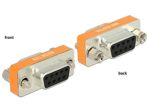 Delock Adapter Null Modem Sub-D 9 pin female > female Gender Changer screws&nuts - Optiwire.ie