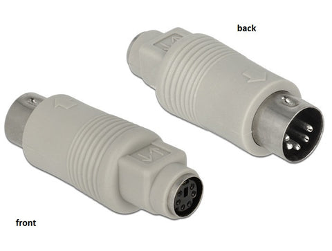 Delock Adapter DIN 5 pin male > PS/2 (Mini-DIN) 6 pin female grey - Optiwire.ie
