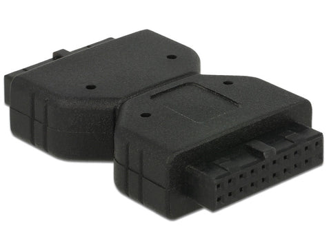 Delock Adapter USB 3.0 Pin Header 19 pin female > female Gender Changer/Extender - Optiwire.ie