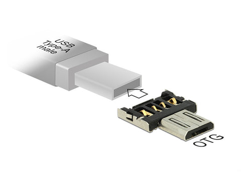 Delock Adapter OTG USB Micro-B male for USB Type-A male On-the-Go Android - Optiwire.ie