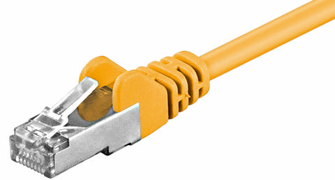 Cat 5e LAN Ethernet RJ45 Patch SFTP Straight Cable EIA / TIA 568 ADSL 1 m yellow - Optiwire.ie