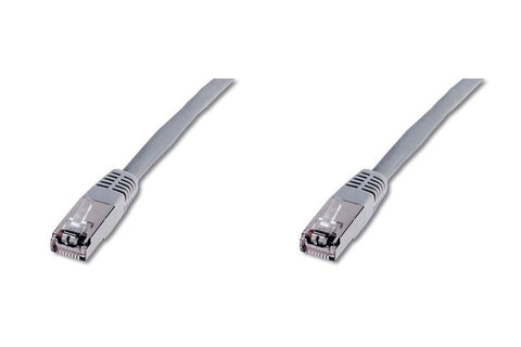 Cat 5e LAN Ethernet Network RJ45 Patch SFTP Straight Cable EIA/TIA 568 0.5m grey - Optiwire.ie