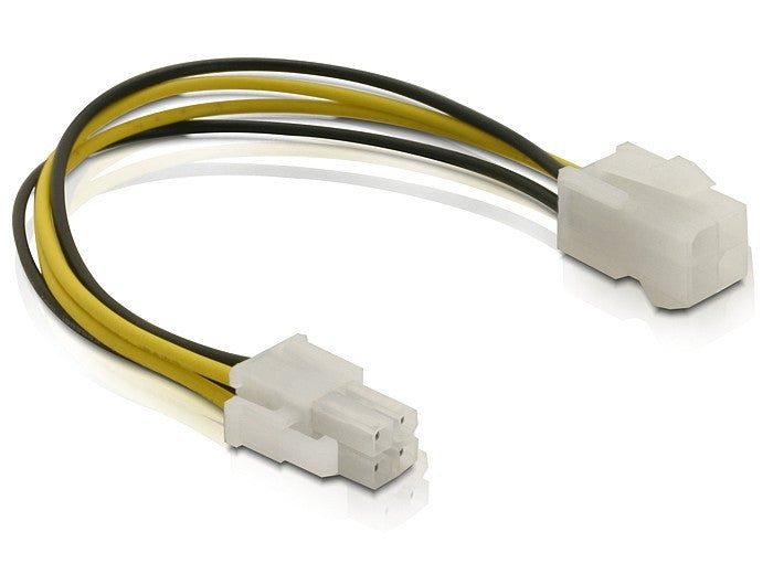 Delock Power cable P4 male / female supply power from mainboard to CPU 15 cm - Optiwire - 1
