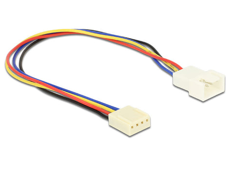 Delock Cable Fan connection 4pin male-female 0,20 m connect fan > motherboard - Optiwire.ie