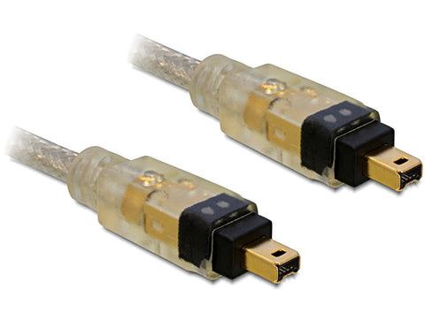 Delock Cable FireWire 4 pin male > 4 pin male 2m i.LINK 1394 28AWG 5.5mm 400Mbps - Optiwire.ie