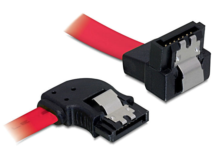 Delock Cable SATA 30cm left/down metal red - Optiwire.ie