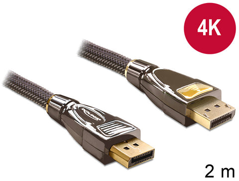Premium 4K UltraHD Delock Cable Displayport M - M 2 m DP v1.2 3840 x 2160 @ 60Hz - Optiwire - 1