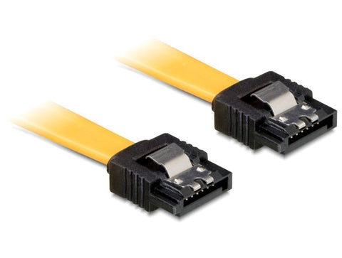 Delock Cable SATA 6 Gb/s straight/straight metal 20 cm SATA 6 Gb/s specification - Optiwire.ie