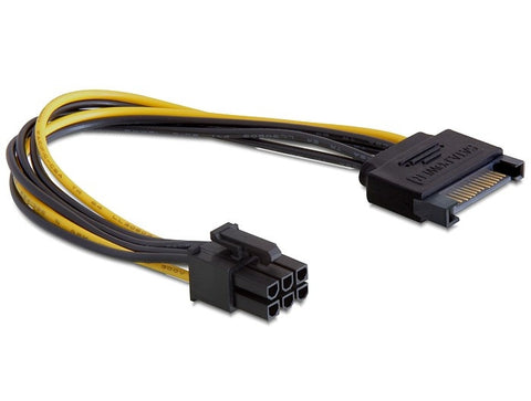 Delock Power cable for PCI Express cards Power SATA 15 pin > 6 pin PCI Express - Optiwire - 1
